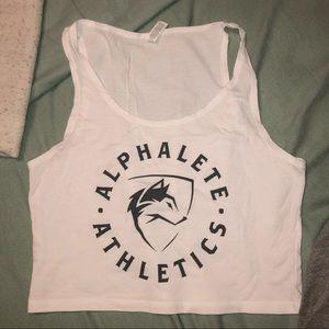 alphalete cropped workout tank